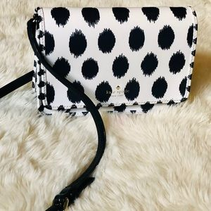Dalmatian pattern leather Kate ♠️